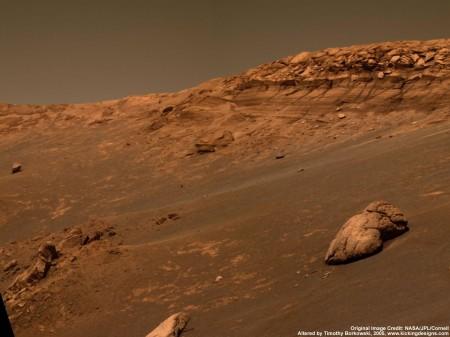 Desierto marciano fotografía de Mars Opportunity