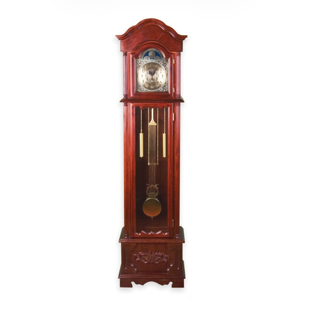 reloj de péndulo y pesas